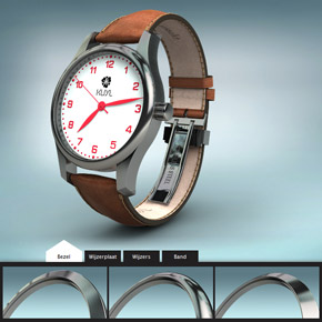 Kuyl Watches 3D productconfigurator